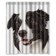 "Dogs Border Collie Animals 01 Custom Fashion Waterproof Fabric Bath Shower Curtain 60"" x 72"""