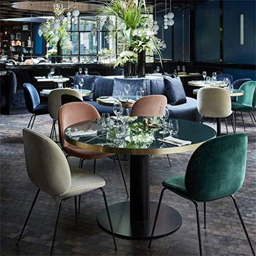 YJT.cy Chaise de Salle à Manger Jambes en métal Chambre revêtue de Coiffeuse Velvet Cushion Salon Chaises de Loisirs 57 × 52 × 85cm Bleu