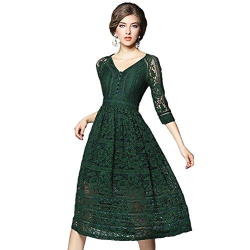 JBZYM VD79051C1 Seven In The Long Skirt Women Dresses - Size L (Flapper Makeup Kit)