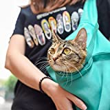 Yinrunx Dog and Cat Sling Carrier – Hands Free Reversible Pet Light Blue Bag - Soft Pouch and Tote Design – Suitable for Puppy, Small Dogs, and Cats for Outdoor Travel