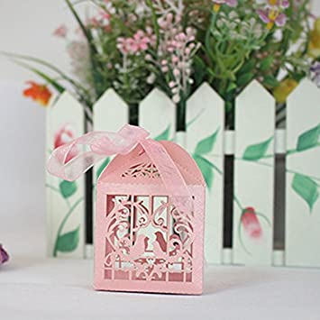 Amazon zorpia 50pcs laser cut birdcage wedding favor box zorpia 50pcs laser cut birdcage wedding favor box candy box baby shower box wedding favors and stopboris Image collections