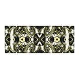 Kess InHouse Dawid Roc The Palace Walls II Yellow Black Bed Runner, 34'' x 86''