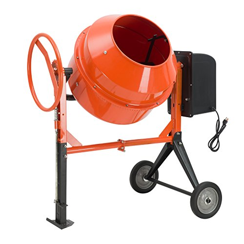 SUNCOO 4/5HP Electric Concrete Cement Mixer 5 Cu Ft Mortar Mixing Stucco Seeds Portable Barrow Machine