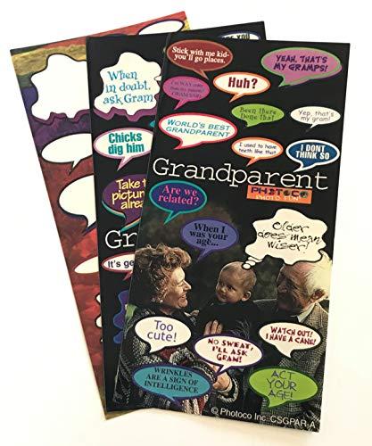 57-Pack Photo Fun Caption Stickers - Funny, Scrapbook, Grandparents