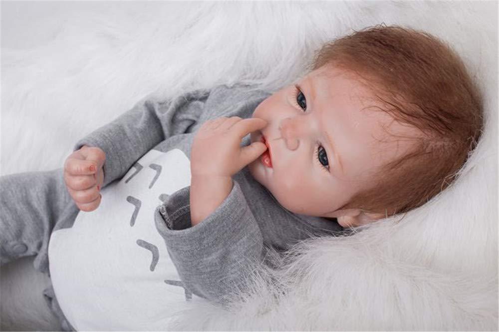 MAIHAO Mu/ñeco Reborn beb/é Chico Vinilo Silicona Realista Ni/ño Mu/ñecas Reborn Baby Dolls Reci/én Nacido 22 Pulgadas Ni/ños Juguete