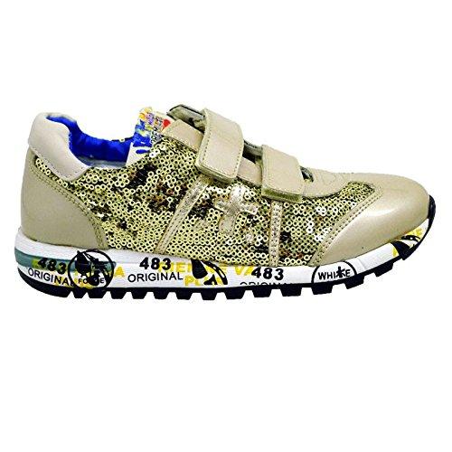 Zapatillas Doradas con Lentejuelas Premiata Lucy V 0363 Oro: Amazon.es: Zapatos y complementos