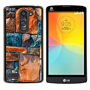 "Be-Star Único Patrón Plástico Duro Fundas Cover Cubre Hard Case Cover Para LG L Prime / L Prime Dual Chip D337 ( Piedra Architecture Pared Diseño Rocas colorido"" )"
