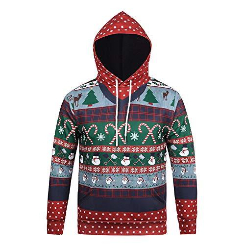 (XINWEI Unisex 3D Printed Christmas Pullover Sweatshirt Funny Xmas Printed Long Sleeve)