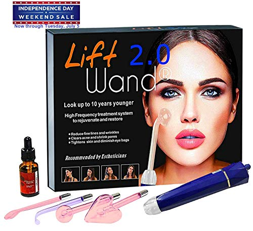 Lift Wand 2.0 High Frequency Machine Anti Aging device, Eliminates Wrinkles and Acne (Lift Wand 2.0)