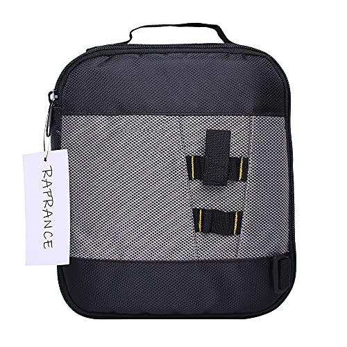 Raprance Fishing Soft Baits Binder Tackle Storage Bag for Plastics Lure Organization (Black)