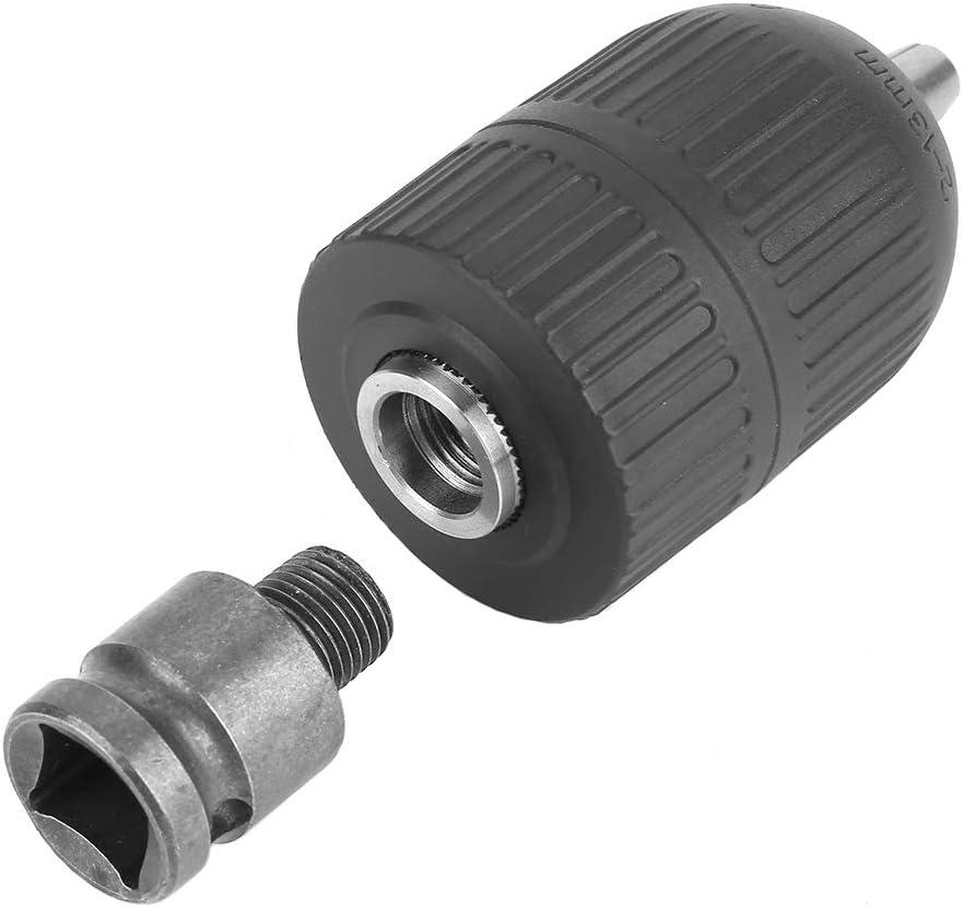 Bestgle Mandrino senza chiave in plastica da 2-13 mm 1//2-20UNF con adattatore per mandrino da 1//2 per conversione di avvitatore a impulsi