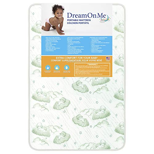 "Dream On Me 3"" Foam Playard Mattress, White (27-CO), ONE Size"