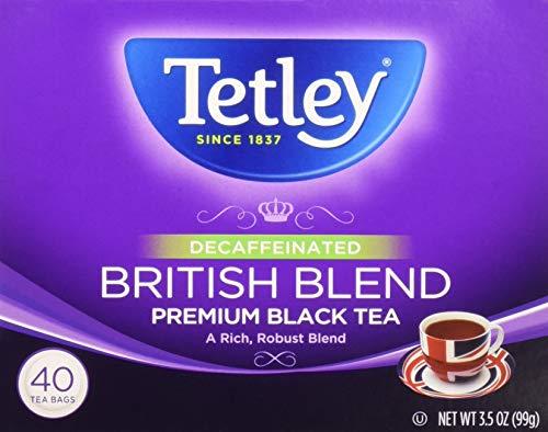 Decaf Tea Tetley (Tetley Decaffeinated British Blend Premium Black Tea, 40 Tea Bags)