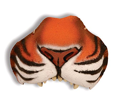 [Scary-Masks Nose Jungle Tiger W Elastic Mask Halloween Costume - Most Adults] (Adult Tiger Mask)