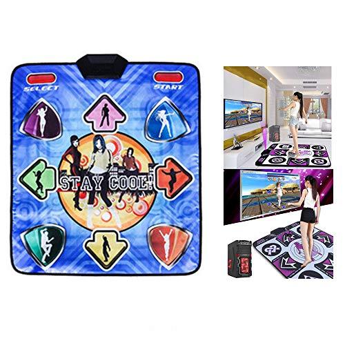 ZHX Single Dance Mat Wired Play Mat Foldable Non-Slip Computer Dedicated Somatosensory Dance Mats for Adults Children Yoga Fitness(English ()