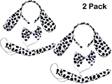 Kids Animals Dalmatian Mouse Wolf Tiger Antlers Party Costume Christmas Headband (2PCs Dappled Dalmatian)