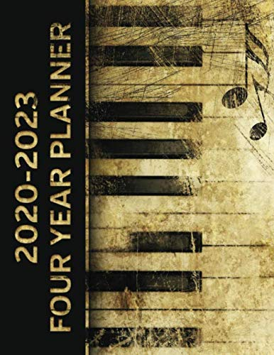2020 - 2023 Four Year Planner: Vintage Piano Musician Monthly Calendar, Planner, Notebook and More!