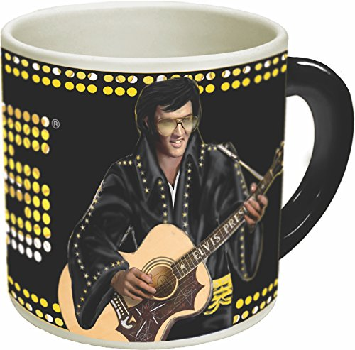 Timeless Elvis Heat Changing Coffee Mug - Add Hot Liquid and Watch Elvis go from Vegas to Memphis - Comes in a Fun Gift Box - by The Unemployed Philosophers Guild