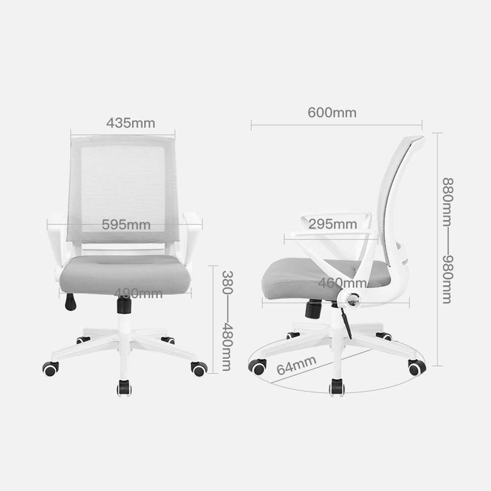 LJHA kontorsstol, ergonomisk svängbar stol höjdjusterbar datorstol (5 färger) kontorsstol (färg: Stil 5) stil 2