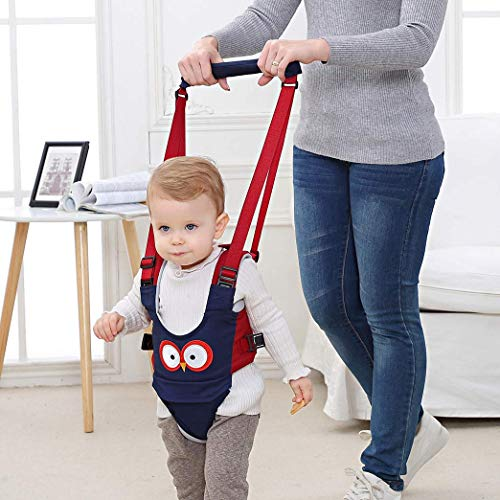 Baby Walking Harness Handheld Baby Walker, Safe Stand Hand Held Baby Walking Assistant Walking Helper, Breathable Safety Walking Harness Walking Belt for Toddler Infant, Adjustable (Blue)