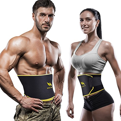 OMorc Waist Trimmer for Women and Men, Adjustable Weight Loss Ab Belt...