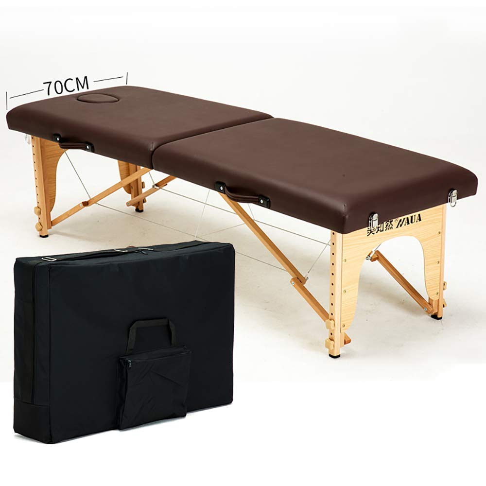Fold Massage table, portable professional massage table - light 13 kg - light - Beauty/tattoo folding bed/various colors(Including backpack) WXXJB-coffee-70cm by WXXJB
