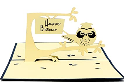 Amazon Isharecards Handmade 3d Pop Up Happy Birthday Card