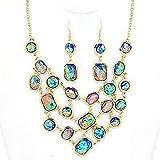 Adorn by LuLu Mermaid Fantasy Opal Necklace Set