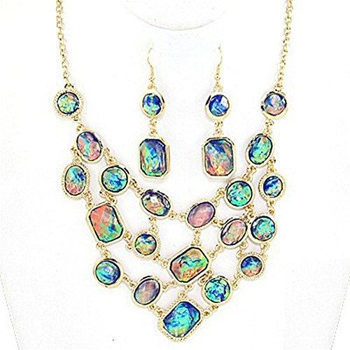 Adorn by LuLu Mermaid Fantasy Opal Necklace Set ()
