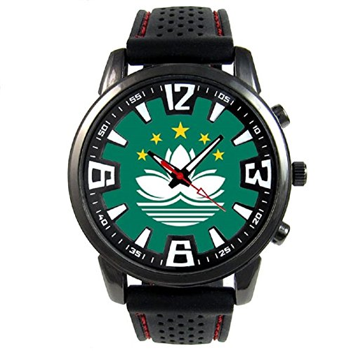 Used, Timest - Macao Country Flag - Mens Black Jelly Silicone for sale  Delivered anywhere in Canada