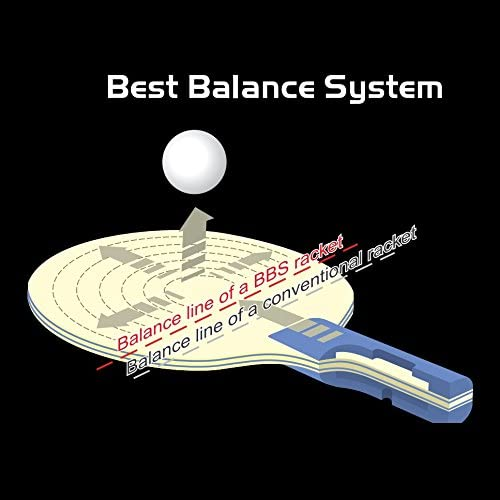 Raqueta De Ping Pong Certificada por ITTF Raqueta De Tenis De Mesa para Jugadores De Todos Los Niveles Atemi Palas De Ping Pong Pro Carbon 3000 Control Y Potencia Superior