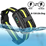 LELEKEY Dog Bark Collar,Automatic Anti Barking Control Collar,5 Adjustable Sensitivity,Waterproof & Rechargeable,Humane Static Shock,No Shock,Beep & Vibration for Small Medium Large Dogs