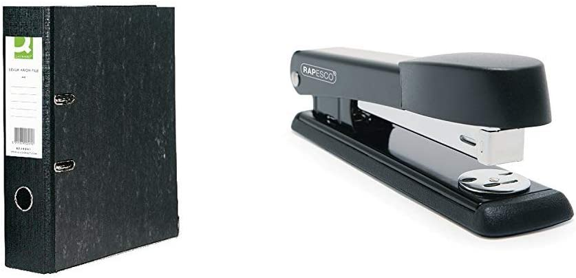 - Black /&Rapesco Stapler R54500B2 Q-Connect KF20001 Board Lever Arch File A4 Uses 26 and 24//6mm Staples Marlin Black 25-sheet capacity Pack of 10