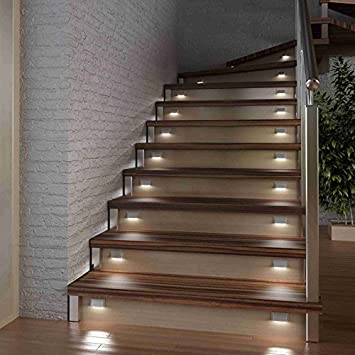 Marches DEscaliers Led Culot Eclairage Feu Simple Blanc AmazonFr