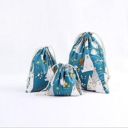 Doitsa 3 pi/èces Sac /à Cordon Maison Sac de Rangement Organisateurs Bagage Voyage Portable Sac /à Cordon de Serrage Stockage de Jouets
