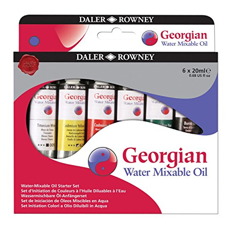 Daler Rowney : Georgian Water Mixable Oil Starter Set : 6 x 22ml from DALER-ROWNEY/FILA CO