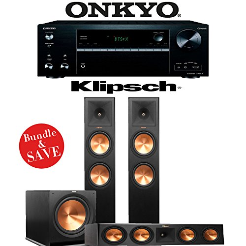 Klipsch RP-280F 3.1-Ch Reference Premiere Home Theater System with Onkyo TX-NR676 7.2-Ch 4K Network AV Receiver by Klipsch