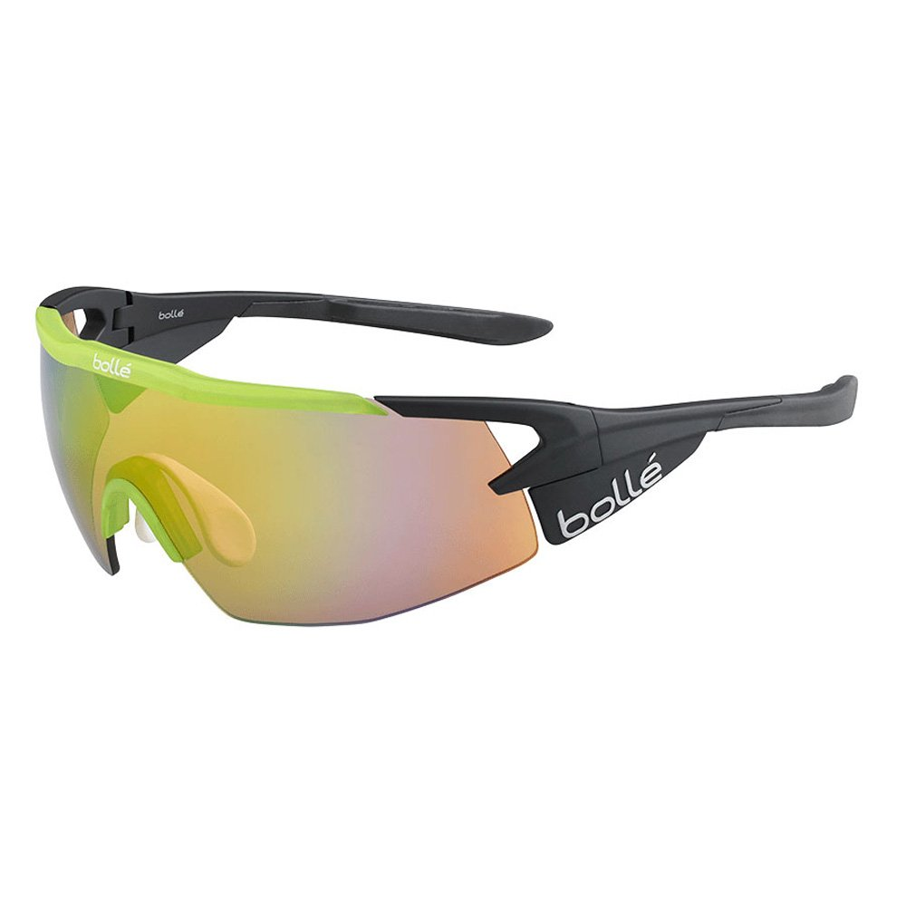 Bolle Aeromax Matte Black Translucent Green Sunglasses Frames Greys Distribution 12267RX