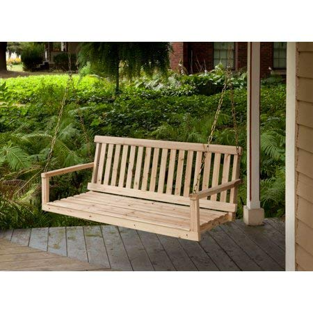 Jack Post  porch swing - Model H-24 natural finish cypress wood chair