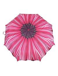 Austin House Fuchsia Daisy Telescopic Umbrella, Pink, International Carry-On
