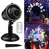 Christmas LED Projector Lights, Fodsports 3D Rotation Effect Landscape Projector Lights with Remote Control, Waterproof & Heavy-Duty for Decoration Lighting on Holiday Party