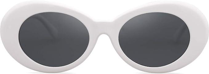 SOJOS Clout Goggles Oval Mod Retro Vintage Kurt Cobain Inspired Sunglasses Round Lens SJ2039