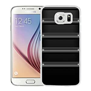 Beautiful Unique Designed Cover Case For Samsung Galaxy S6 With Black Shelf White Phone Case