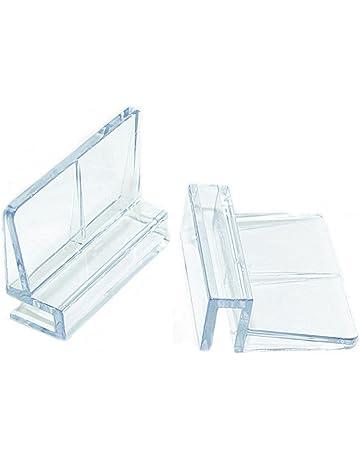 Hinmay Soporte de clip de cristal acrílico para acuario, 6 mm/8 mm