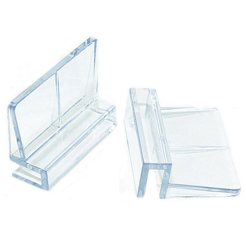 GEZICHTA Kunststoff-Clips fü r Aquarium, 6/8 / 10/12 mm, transparent, langlebig, universal, Acryl, fü r Aquarien mit randlosen Aquarien, Wie abgebildet, 6 mm
