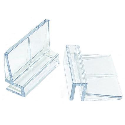 UxradG 4 piezas acrílico acuario pecera cubierta de cristal Clip soporte