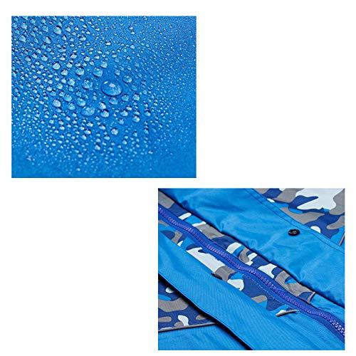 Per Antipioggia Dimensioni Xl Blue Di colore Mimetica Green Completo Royal blu Adulto Doppio Tuta Dqmsb Impermeabile Poncho Spessa verde zHwFtAq