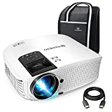 "VANKYO Leisure 510 Projector with 3600 LUX,Full HD Video Projector with 200"" Projection Size, Support 1080P HDMI VGA AV USB with Free HDMI Cable and Carrying Bag (2-White)"
