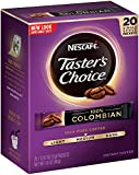nescafe instant coffee colombian - Nescafe Taster's Choice 100% Colombian Instant Coffee, 20 Count Single Serve Sticks, (Pack of 8)