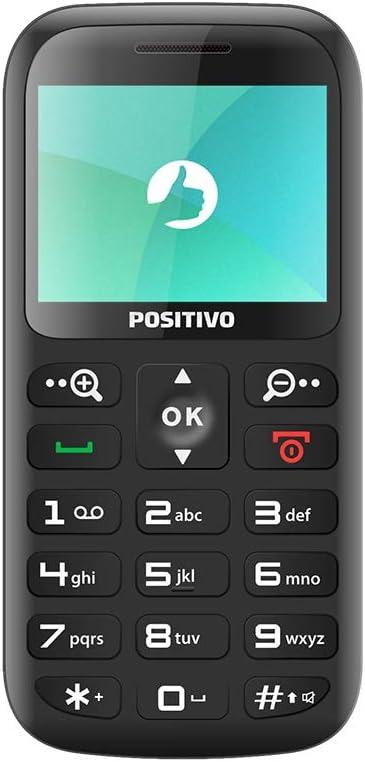 """Celular Positivo P65 2G 2.3"""" - Preto"""
